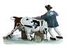 "Detail images: Meissener-Figurengruppe ""Bauer mit zwei Kühen"""