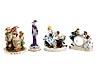 Detail images: Konvolut von neun Porzellanfiguren und -figurengruppen