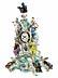 Detail images: Porzellanuhr mit Allegorie der Musik