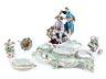 Detail images: Prächtiges Meissener Porzellanschreibzeug im Chinoiserie-Rokoko-Stil