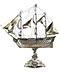 Detail images: Großer Tafelaufsatz als Silberschiff