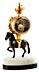 Detail images: Kleine Pendule mit Pferdedekor
