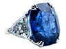 Detail images: Großer Burmasaphir-Diamantring