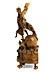 Detail images: Bedeutende Schutzengelfigurengruppe des Rokoko in Buchsbaumholz