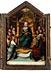 Detail images: Kleiner Klappaltar-Triptychon mit Darstellung des Pfingstwunders und der Heiligen Luitgard von Wittchen