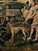 Detail images: Große Tapisserie mit Diana und Adonis auf der Jagd