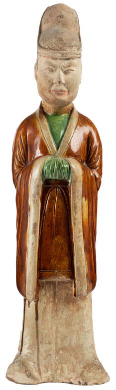 Terrakottafigur eines chinesischen Würdenträgers