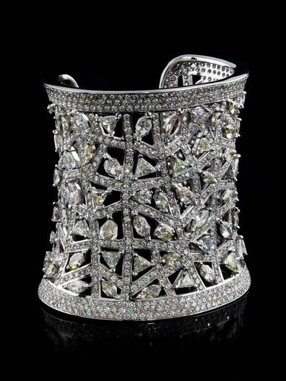 Breite Diamant-Armspange