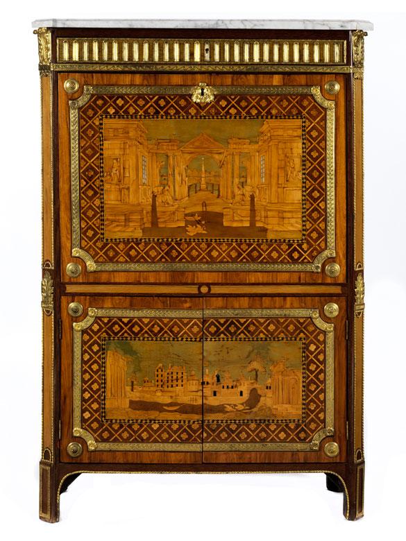 Bedeutender musealer Louis XVI-Secrétaire à abattant gestempelt André Louis Gilbert (1746 – 1809)