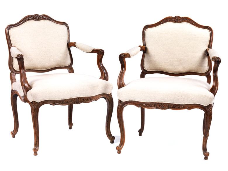 Paar barocke Armlehnstühle