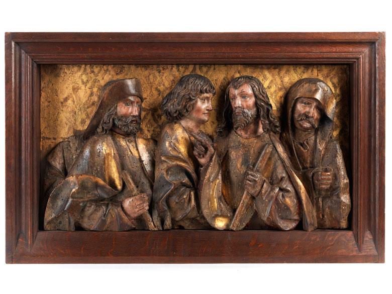 Gotische Hochrelief-Figurengruppe