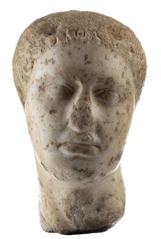 Antiker Kopf in Mamor