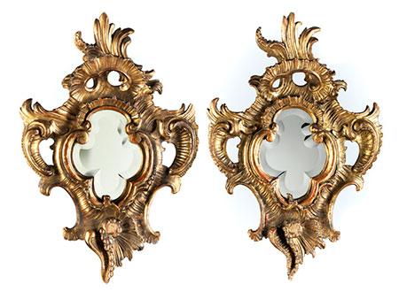 Paar Spiegelrahmen