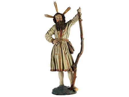 Schnitzfigur des Heiligen Christophorus