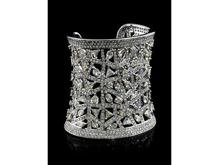 Detail images:  Breite Diamant-Armspange