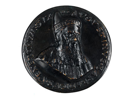 Bronzemedaillon mit Reliefbüste des venezianischen Dogen Barbadikus (1419 – 1501)