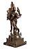 Detail images: Indische Bronzefigur des Gottes Krishna