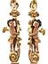Detail images: Paar dekorative Säulen mit Putten