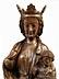 Detail images: Schnitzfigur einer gotischen Madonna mit dem Kind