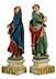 Detail images: Paar Schnitzfiguren: Maria und Johannes als Assistenzfiguren einer Kreuzgruppe aus dem Bildhauerkreis der Familie Schwanthaler