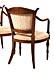 Detail images: Satz von sechs neoklassizistischen Stühlen