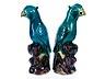 Detail images: Zwei blaue chinesische Papageien