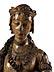 Detail images: Lebensgroße museale Schnitzfigur der Heiligen Katharina