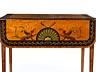Detail images: Salontischchen mit klassizistischer Bemalung