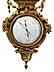 Detail images: Prächtiges Paar Instrumentarien Barometer bzw. Uhr mit Thermometer