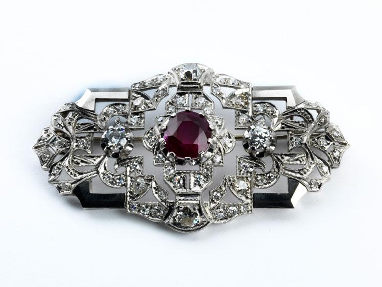 Rubin-Diamantbrosche