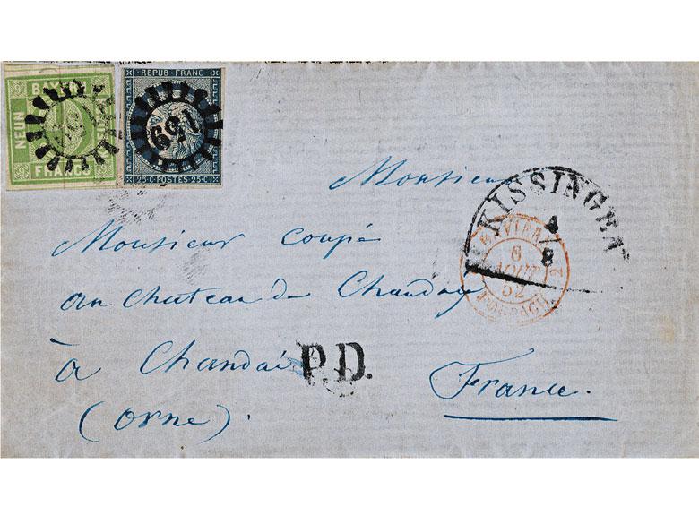 Briefmarken: Bayern und Frankreich