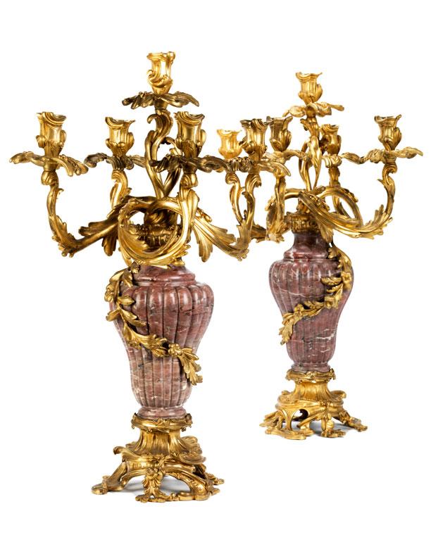 Paar Napoleon III-Kandelaber