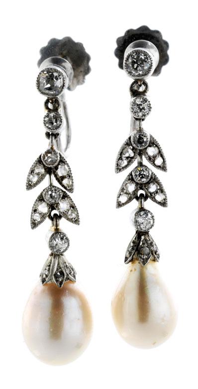 Naturperl-Diamantohrhänger