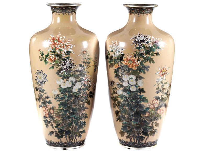 Paar Japanische Bodenvasen Hampel Fine Art Auctions
