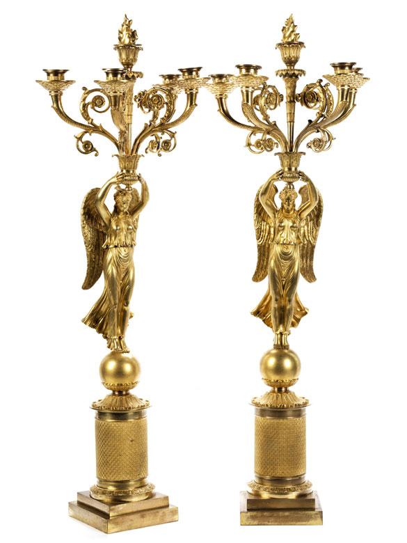 Paar Girandolen im Empire-Stil