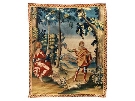 Seltener englischer Wandteppich des ausgehenden 17. Jahrhunderts