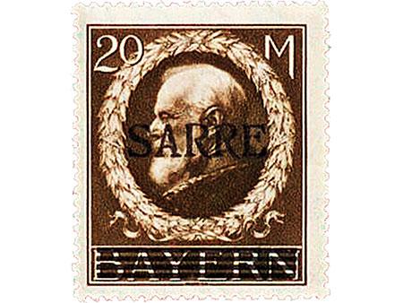 Briefmarke: Saarland