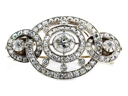 Detail images:  Diamantbrosche bzw. -schließe