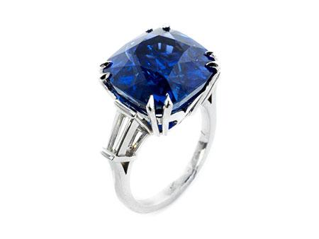 Detail images:  Burmasaphir-Diamantring