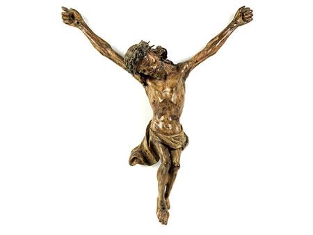 Corpus Christi in Holz geschnitzt