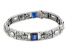 Art déco-Saphir-Diamantarmband von Tiffany