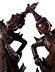 Detail images: Paar große thailändische Figuren