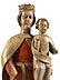 Detail images: Große in Holz geschnitzte Figurengruppe der Maria mit dem Kind