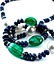Detailabbildung: Saphir-Smaragd-Perlenkette