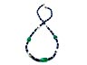 Detail images: Saphir-Smaragd-Perlenkette