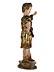 Detail images: Seltene anmutige Schnitzfigur eines römisch gekleideten Knabens