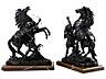 Detail images: Paar Pferdebronzen nach Modell von Guillaume Coustou (1677–1746)
