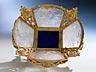Detailabbildung: Tischschale in Vergoldung, unter Verwendung von Bergkristall und Lapislazuli