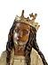 Detail images: Paar im Hochrelief geschnitzte weibliche Heiligenfiguren