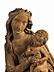 Detail images: Schnitzfigur einer Mondsichelmadonna mit dem Kind